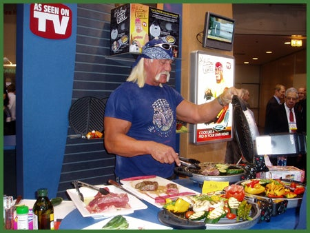 What do you get when you take one washed up wrestler, a hilariously bad infomercial and a terrible product? The Hulk Hogan Ultimate Grill!