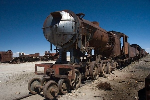 Trains in Southwest Bolivia