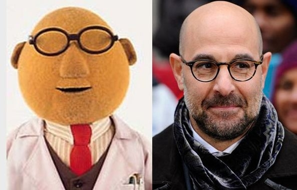 Stanley Tucci and Dr. Bunsen Honeydew