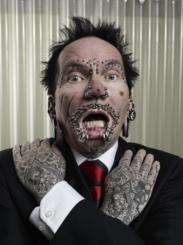 20 - Most Pierced Man