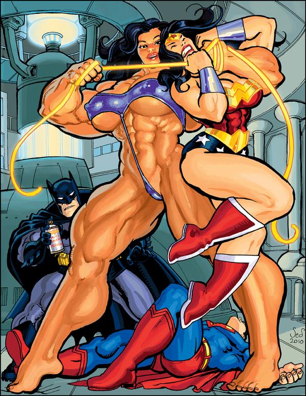 Muscular Wonder Woman by Jed Dougherty