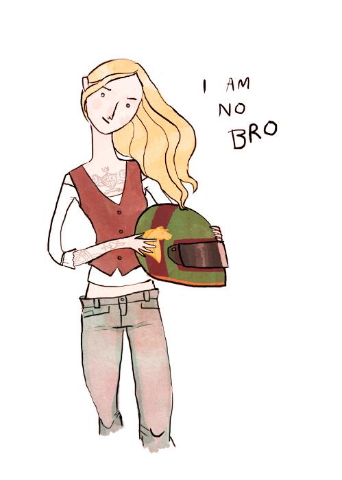 Eowyn as a biker chick