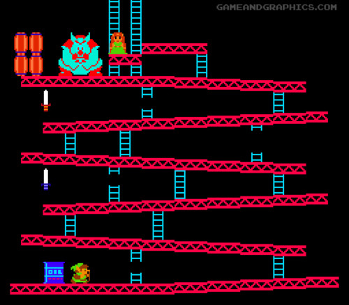 Legend of Zelda / Donkey Kong by Game and Graphics