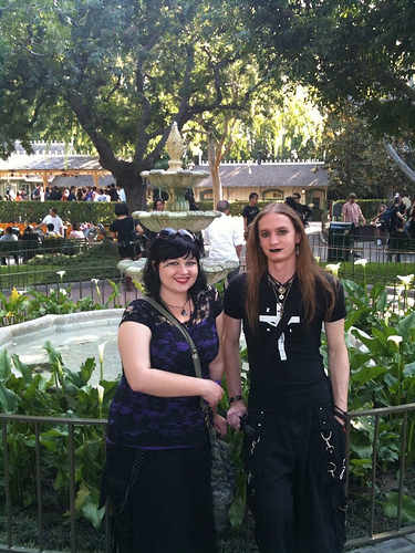 Goths at Disneyland