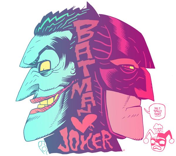 Batman <3s Joker by Dan Hipp