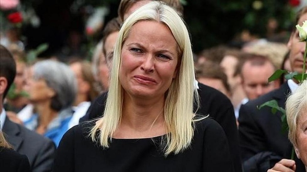 Crown Princess Mette-Marit, whose stepbrother was killed in the attack ( Source ).