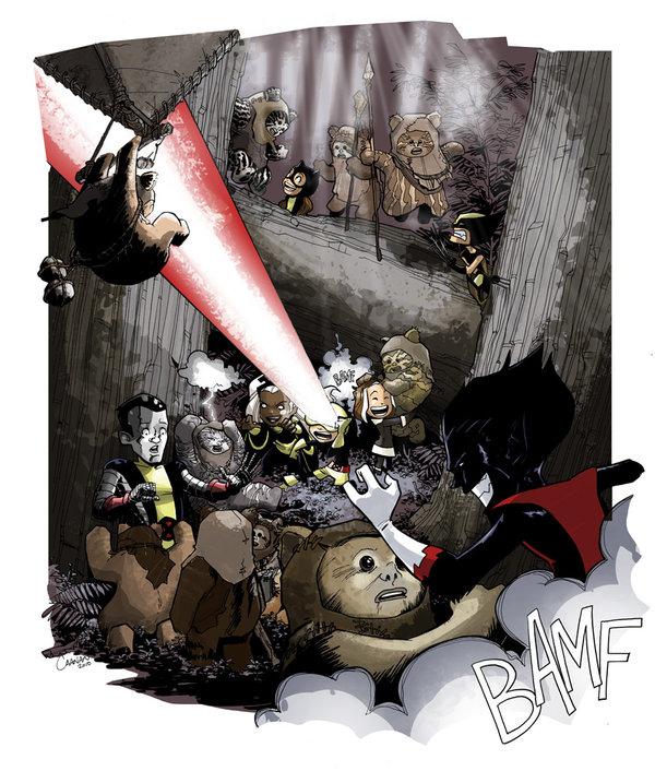 X-Men Babies and Ewoks by caanantheartboy