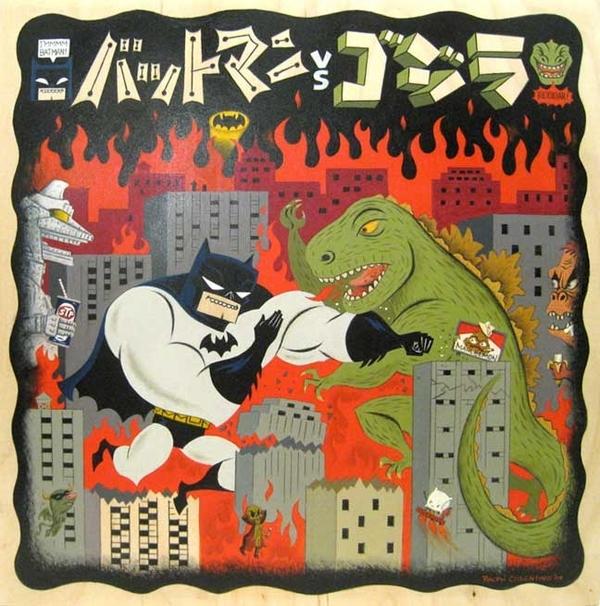 Batman vs. Godzilla by Ralph Cosentino