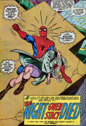 4. Gwen Stacy: Original Woman in Refrigerator in Theory