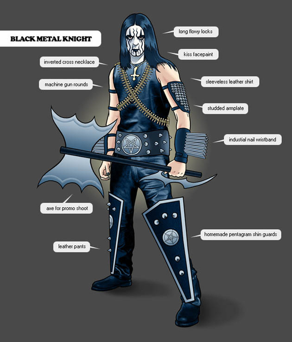 The black metal knight is an odd, multifaceted creature; when he is not adorned in his elaborate ...