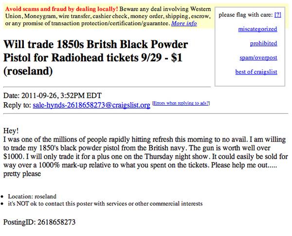 Will Trade Antique Gun