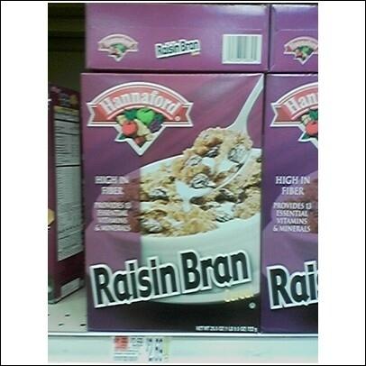 Raisin Bran....er, umm...wait a minute....