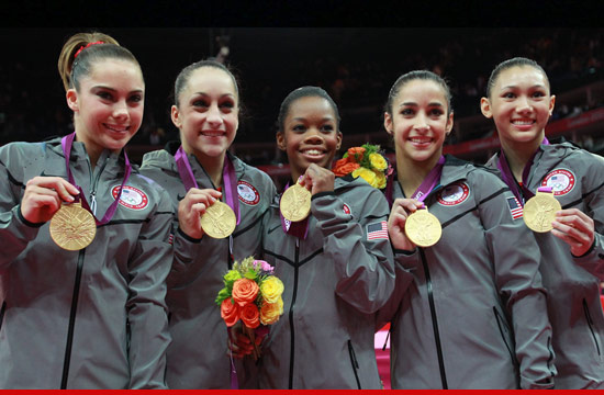 With matching tracksuits and fake gold medals, you could be the US Olympic Women's Gymnastics Team: