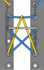 Bonus: How To Tie A Star! 15 funky ways to tie shoelaces - enhanced buzz 6054 1351109006 2 - 15 Funky Ways To Tie Shoelaces