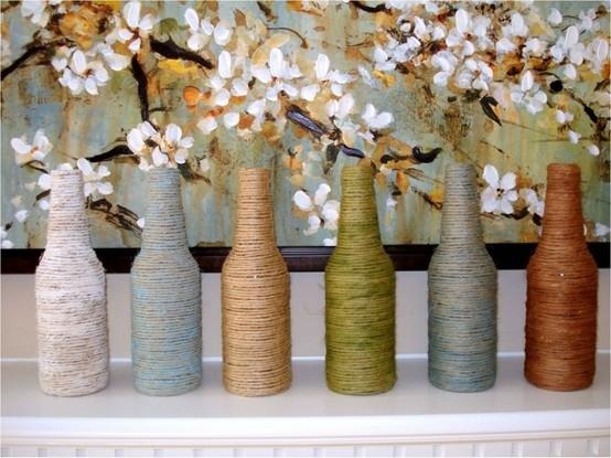 Wrap them in twine or yarn: