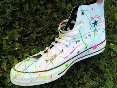 a43193c664c0 Splatter Them With Paint. Decorate white or black shoes ...