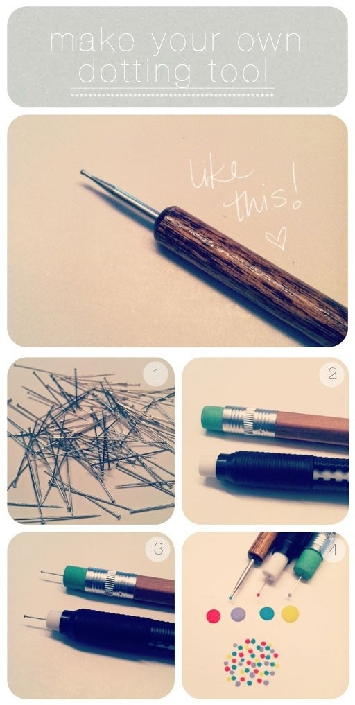 Just stick a pin into a pencil eraser.