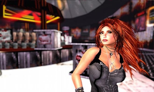 """At a """"demonic"""" nightclub in Second Life"""