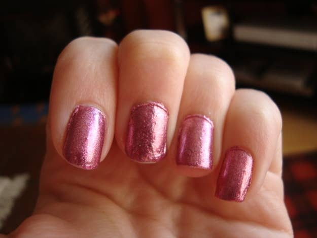 """Humidity can do all sorts of nasty things to a manicure, including the dreaded """"bubbling"""" issue. If it's extra humid outside, make sure you wait twice as long before doing anything that might put dents in your nails."""