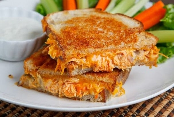 """""""You really cannot go wrong with a spicy filling encased in melted, ooey, gooey cheese all wrapped up in a buttery lightly toasted bread!"""""""