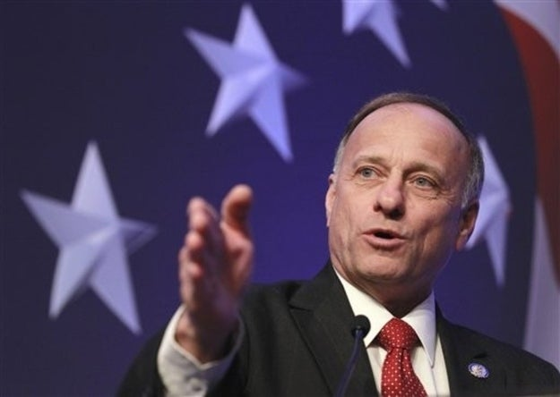 Rep. Steve King, R-Iowa addresses the Conservative Political Action Conference (CPAC) in Washington, Thursday, Feb. 10, 2011.