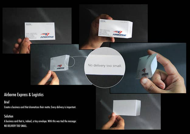 The most creative business cards you will ever see a business card that is indeed a tiny envelope with this was tied reheart Gallery