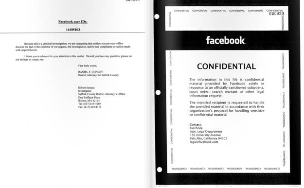 Three months of Facebook data, in this case, adds up to 71 printed pages