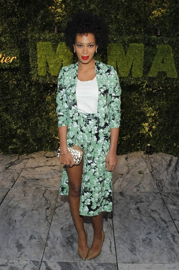 """Singer Solange Knowles attends the Museum of Modern Art's """"Party in the Garden"""" dinner in New York City May 22, 2012."""