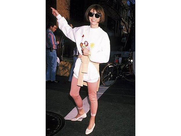 Believe it or not, this is not a recent Instagram of a hipster pointing to a taco truck — it's early 90s Anna!