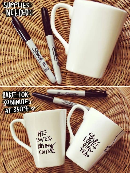 31 insanely easy and clever diy projects make a sharpie mug solutioingenieria Choice Image