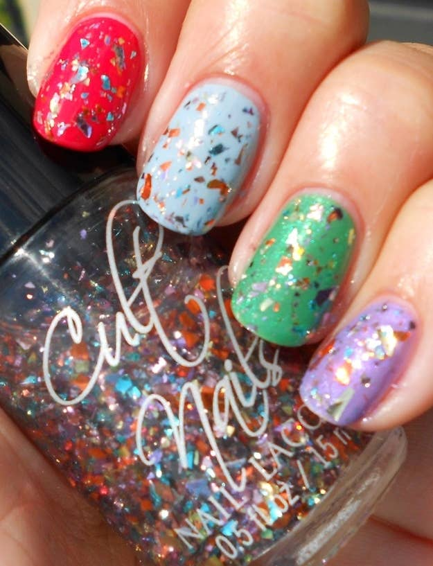 how to make chunky glitter nail polish