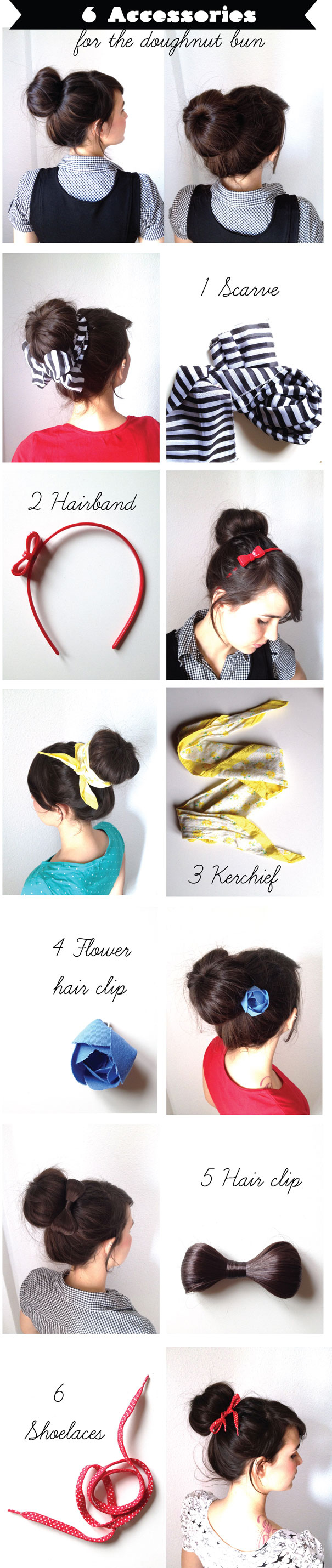 Accessory Ideas for Your Bun