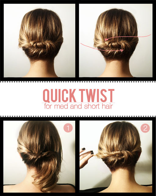 The Quick Twist for Short to Medium Hair