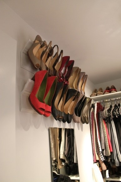 Hang Shoes on the Wall Using Crown Molding