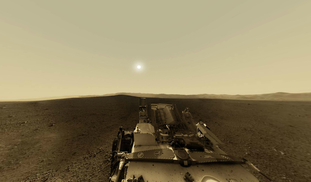 Curiosity Captures Panoramic Martian Sunrise