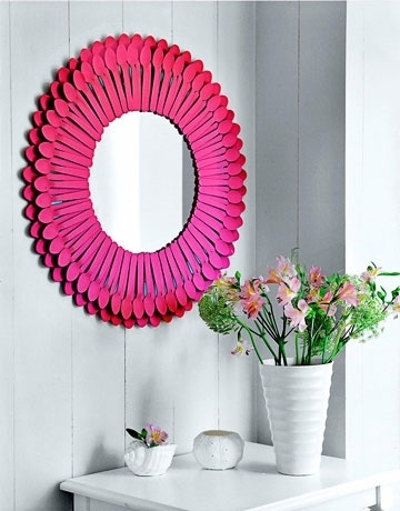 5. DIY Colorful Spoon Mirror