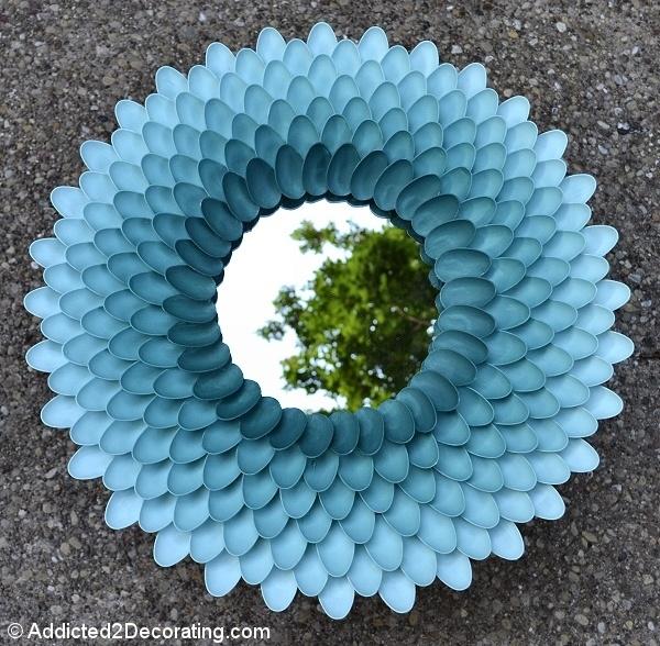18. DIY Chrysanthemum Mirror