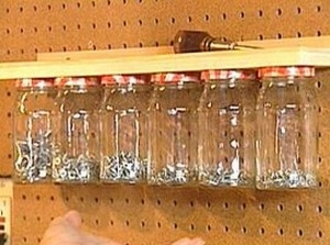 Separate Nails, Screws, Batteries and Other Small Items in Jars