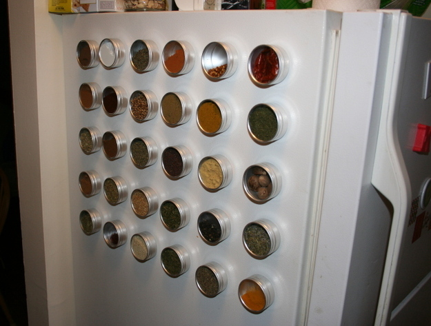Attach Magnetic Spice Racks to the Side of Your Fridge