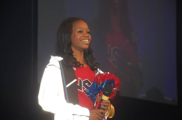 Gold medal gymnast Gabby Douglas was the main attraction.