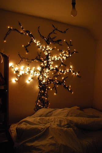 5 create a tree - Christmas Lights Room Decor
