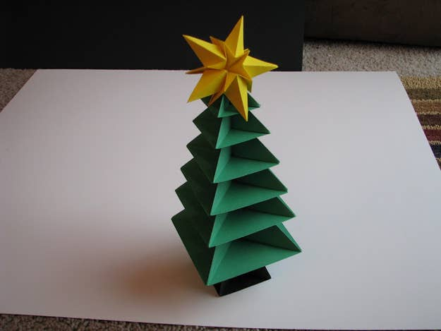 Get The Directions For This Origami Christmas Tree Here