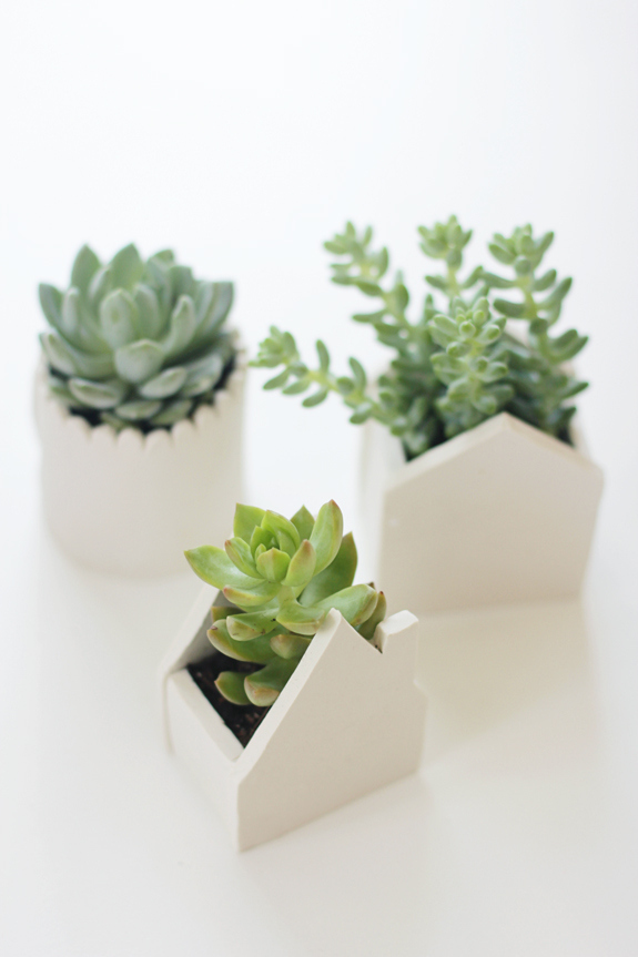 House-Shaped Clay Pots
