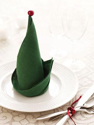 The Elf Hat Napkin Fold
