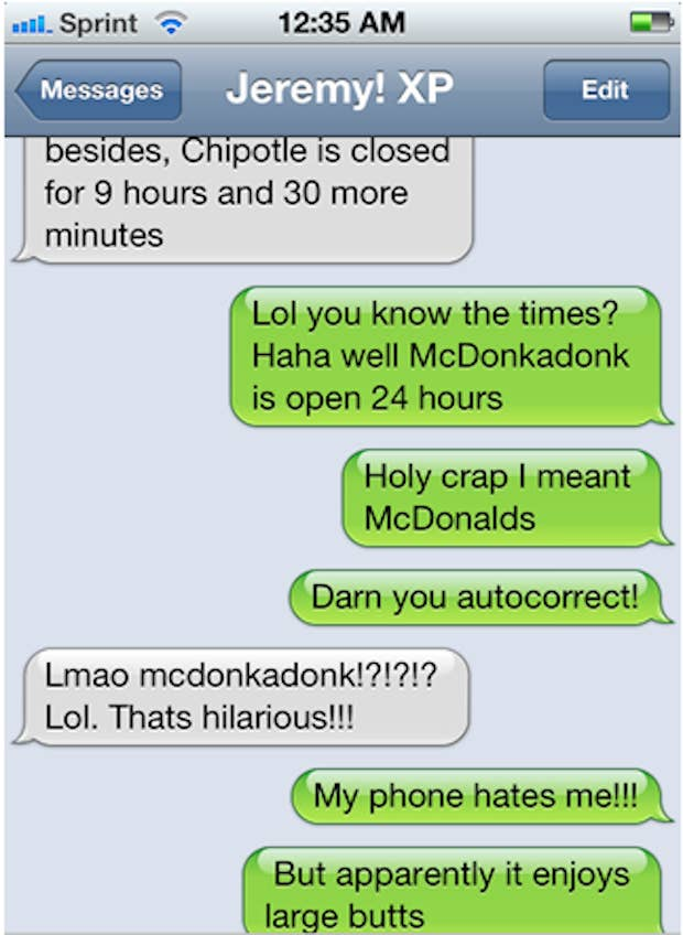 The Funniest AutoCorrects Of - The 25 funniest text autocorrects you will see today