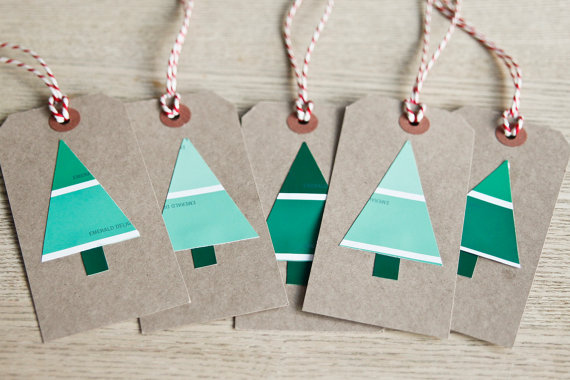Use paint chips to make gift tags.
