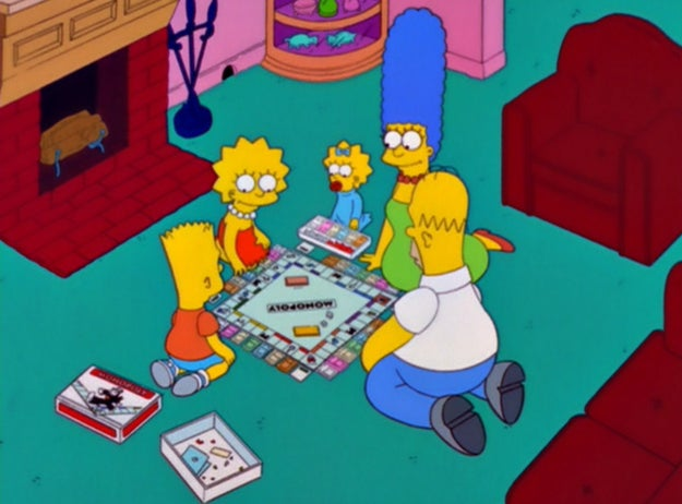 Everyone's favorite yellow family has played Monopoly a number of times, and even has its own custom Monopoly game available IRL.