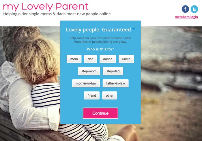 Started by two sons who wanted to find a date for their mother, My Lovely Parent allows people to set up dating profiles for their parents or other loved ones.