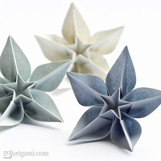 Make origami flowers.