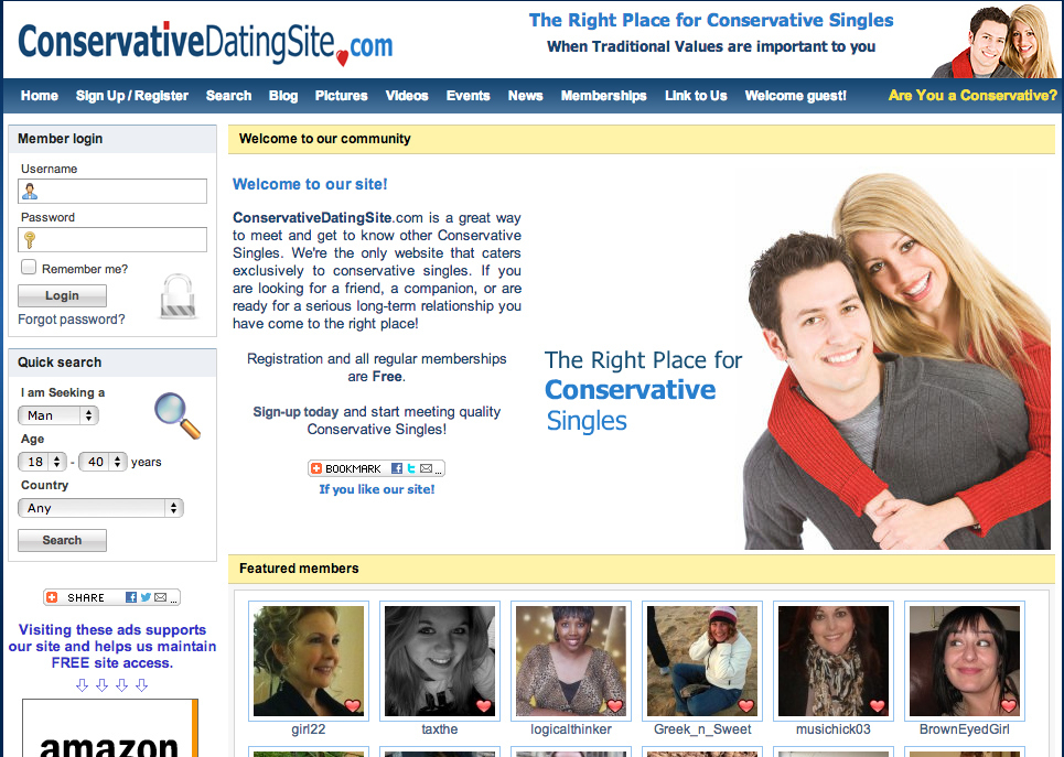 Traditional values dating site